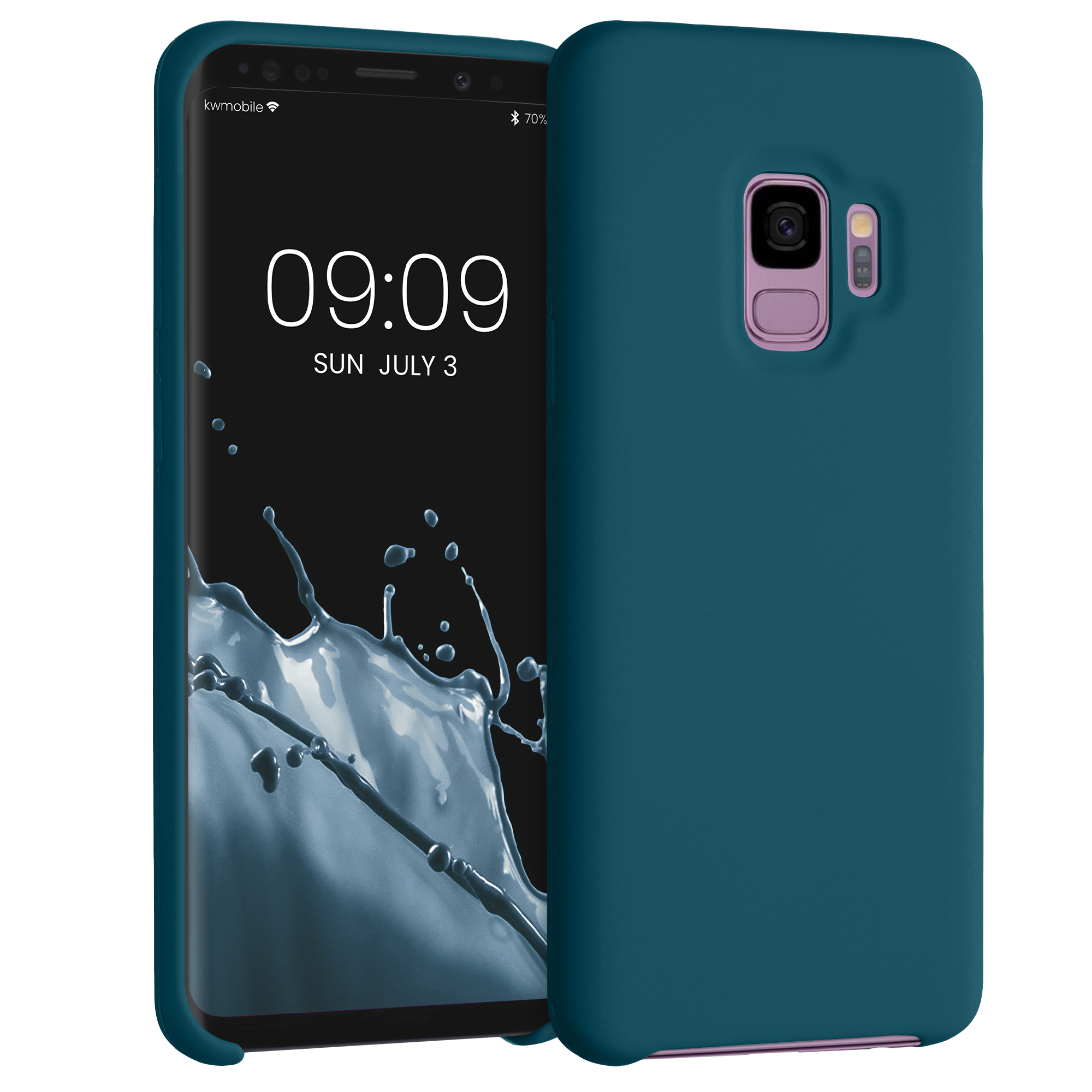 TPU Silikonové pouzdro pro Samsung Galaxy S9 - Soft Flexible Rubber Protective Cover - Teal Matte