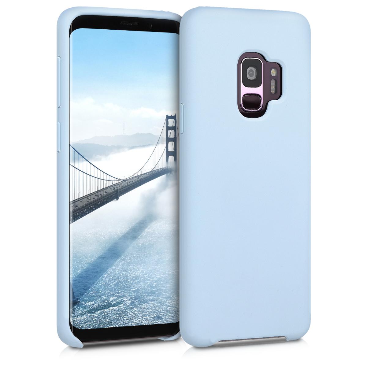 Kvalitní silikonové TPU pouzdro pro Samsung S9 - světle  modré matné
