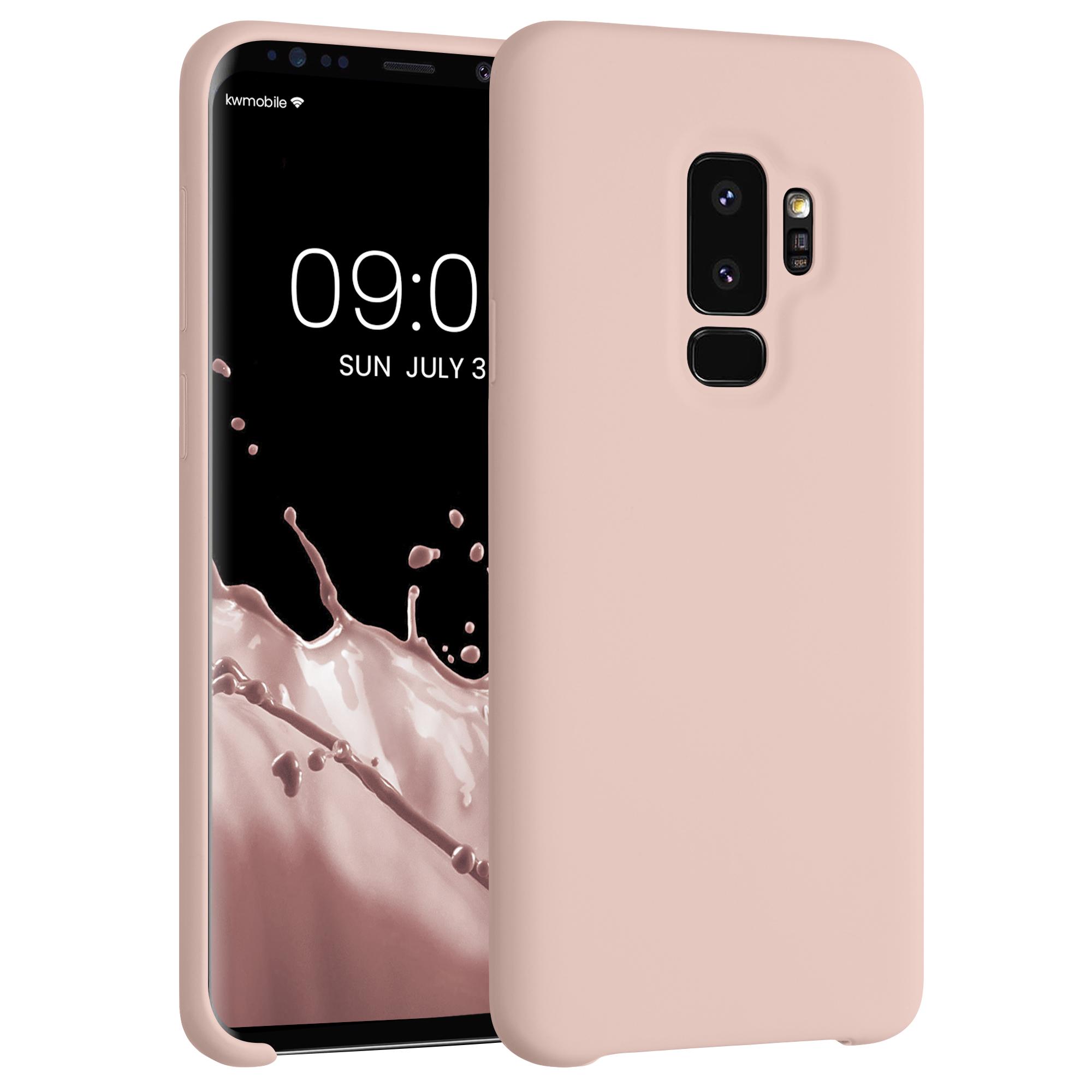 Kvalitní silikonové TPU pouzdro pro Samsung S9 Plus - světle růžové matné