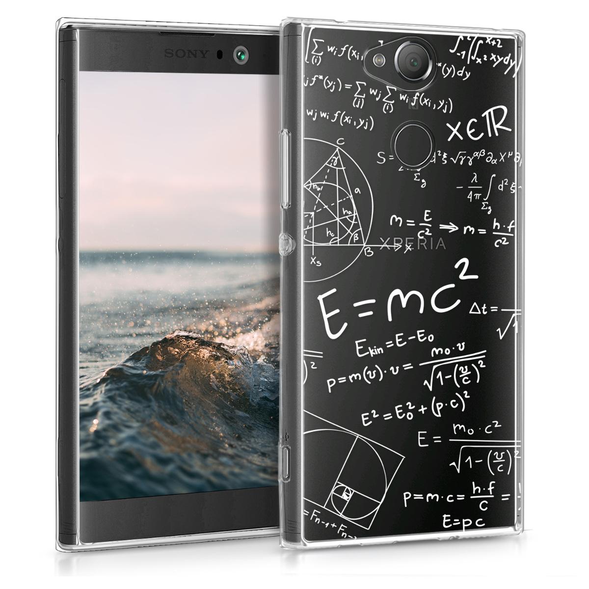 Kvalitní silikonové TPU pouzdro | obal pro Sony Xperia XA2 - Math & Physics Vzorce bílé / průhledné