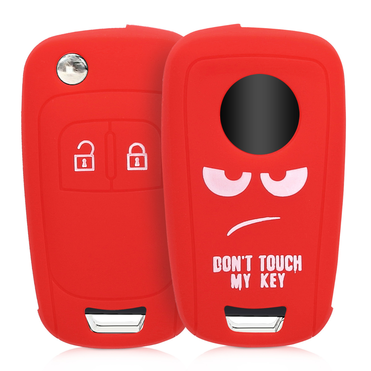 Red Silicone Protective Key Fob Cover for Suzuki 2 Button Car Key Keyless Go kwmobile Car Key Cover for Suzuki