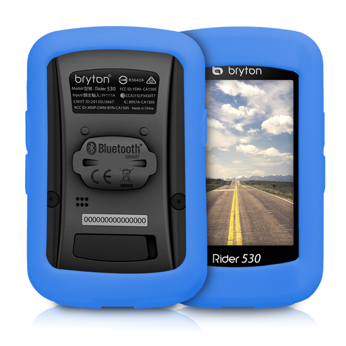 kwmobile Case Compatible with Bryton Rider 15 Black Soft Silicone Bike GPS Navigation System Protective Cover