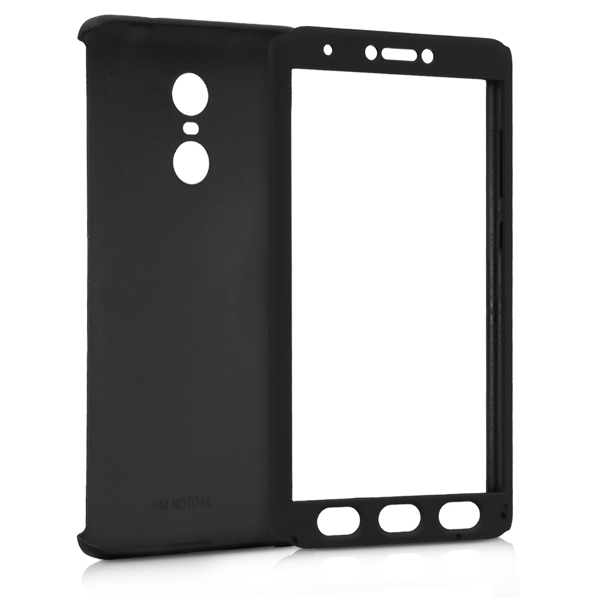 Full Body Case With Screen Protector For Xiaomi Redmi Note 4 4x 64 Kwmobile Cover Shockproof Protective Metallic Black