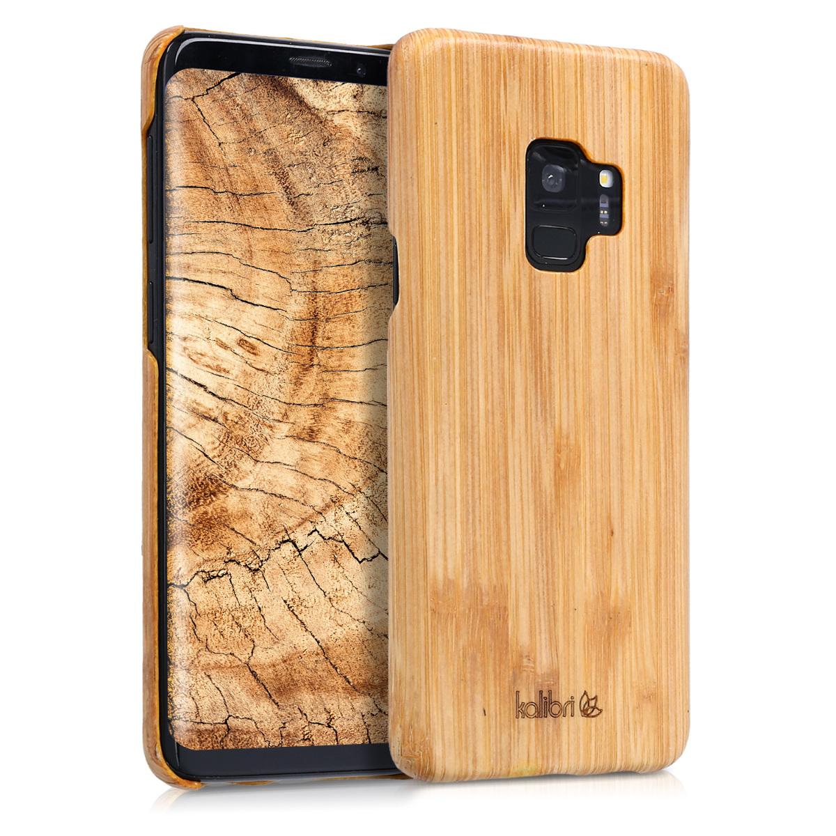 Pouzdro pro Samsung Galaxy S9 - Ultra Slim Natural Hard Dřevěné  Protective Cover