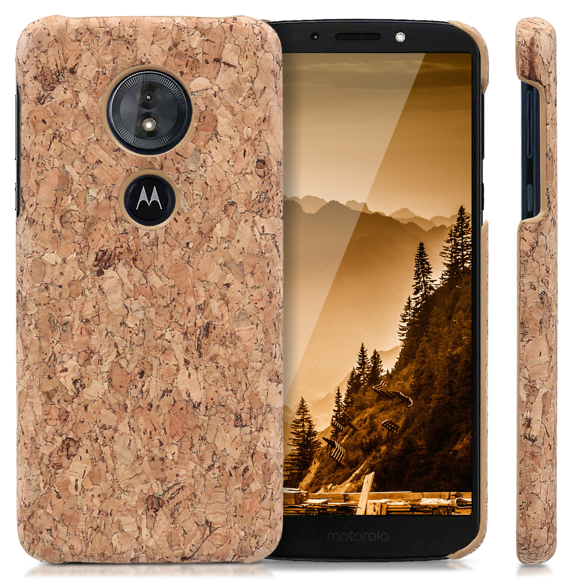 online store c6cb4 17499 Details about Cork Case for Motorola Moto G6 Play Protective Phone Cover