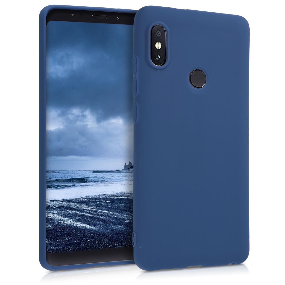 Kvalitní silikonové TPU pouzdro | obal pro Xiaomi Redmi Note 5 (Global Vers - Námořnická modrý