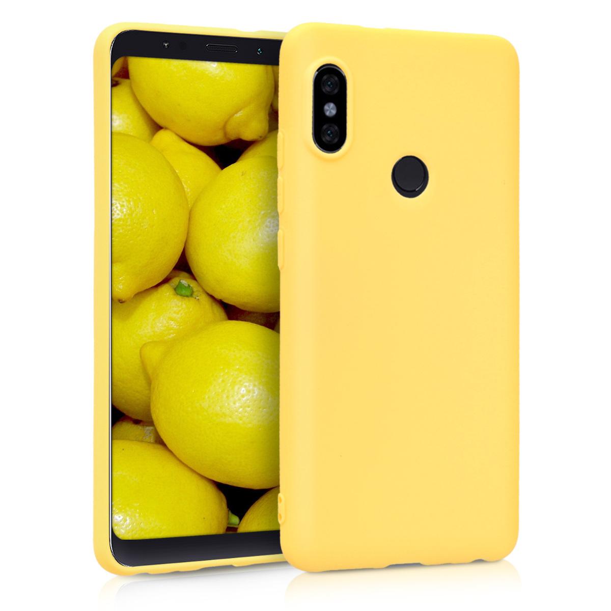 Kvalitní silikonové TPU pouzdro | obal pro Xiaomi Redmi Note 5 (Global Vers - žluté matný