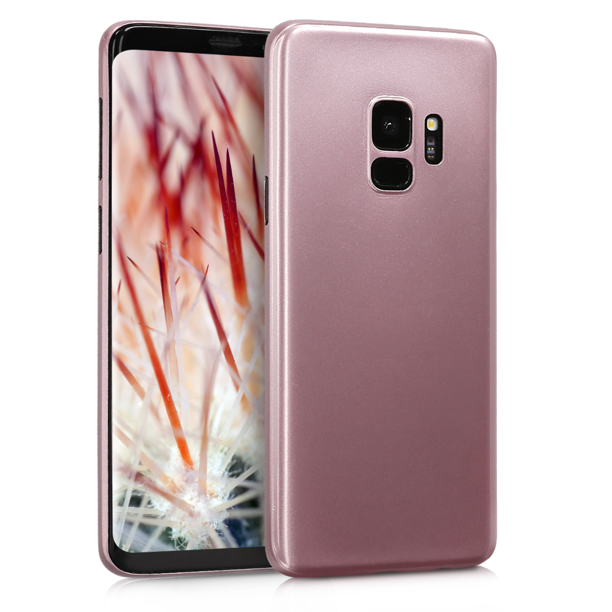 Pouzdro pro Samsung Galaxy S9 - Ultra Slim Protective Mobile Cell Phone Cover - Rose Gold High Gloss