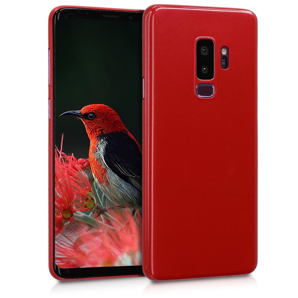 Kvalitní plastové pouzdro pro Samsung S9 Plus - červené High Gloss