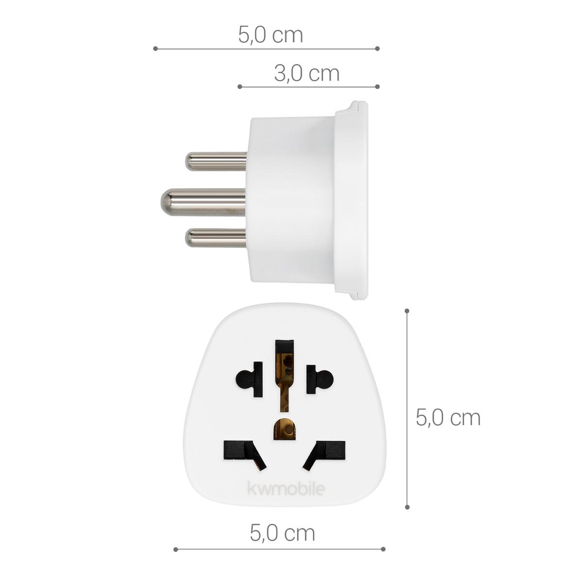 2x reise adapter typ d reiseadapter zu typ d steckdose stecker sri lanka indien ebay. Black Bedroom Furniture Sets. Home Design Ideas