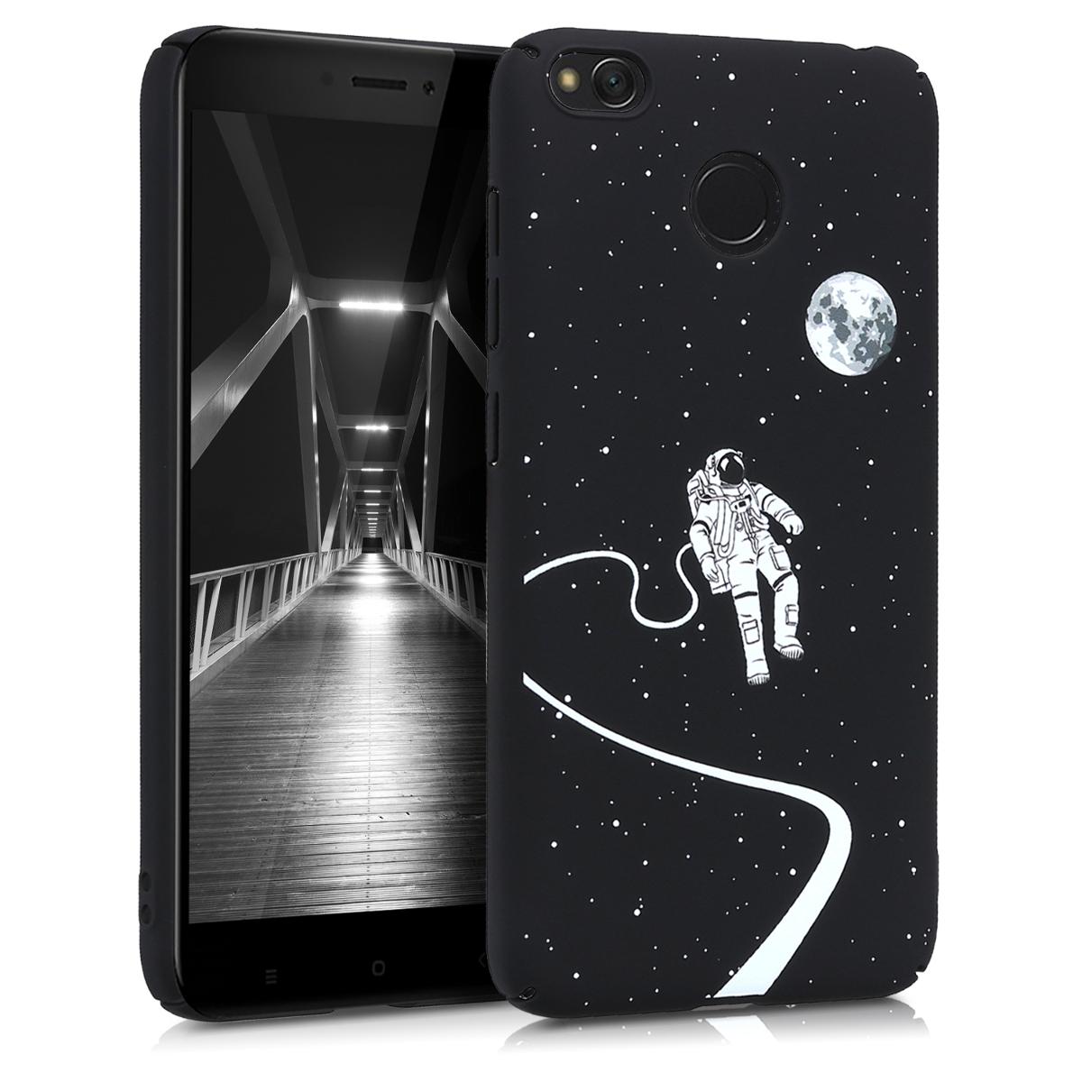 Kvalitní plastové pouzdro | obal pro Xiaomi Redmi 4X - Astronaut a Moon bílý / černý