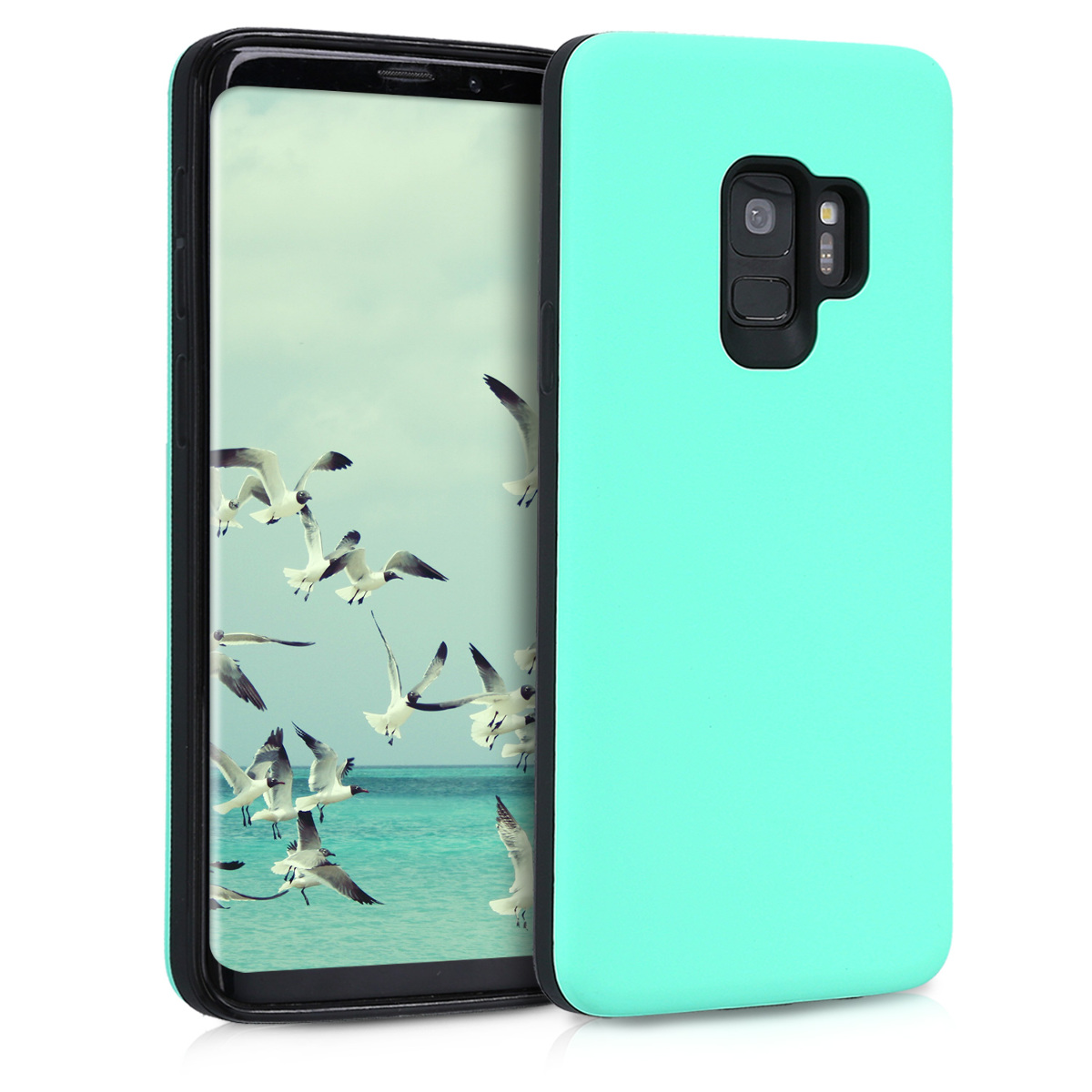 Full ArmorPouzdro pro Samsung Galaxy S9 - Heavy Duty Shockproof Protective Hybrid Case Cover - Mint