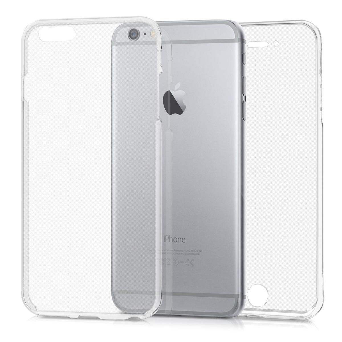 Kvalitní silikonové TPU pouzdro pro Apple iPhone 6 Plus / 6S - Průhledný