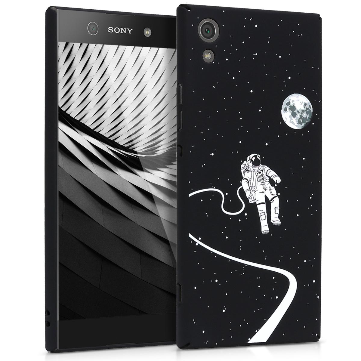 Kvalitní plastové pouzdro | obal pro Sony Xperia XA1 - Astronaut a Moon bílé / černé