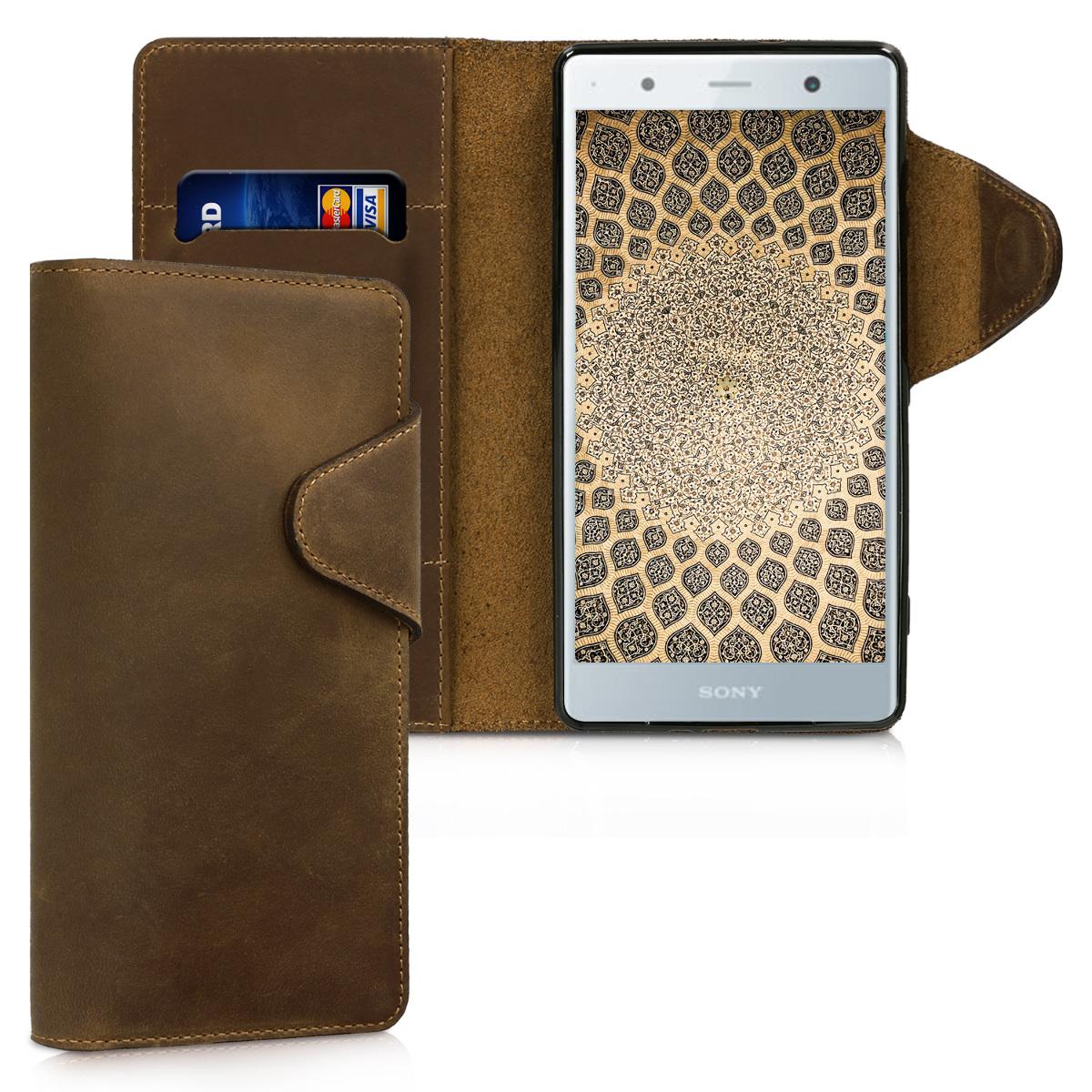 Kožené pouzdro | obal pro Sony Xperia XZ2 Premium - hnědé
