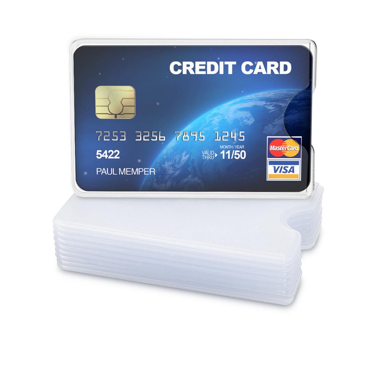 10x Transparent Credit Card Sleeve