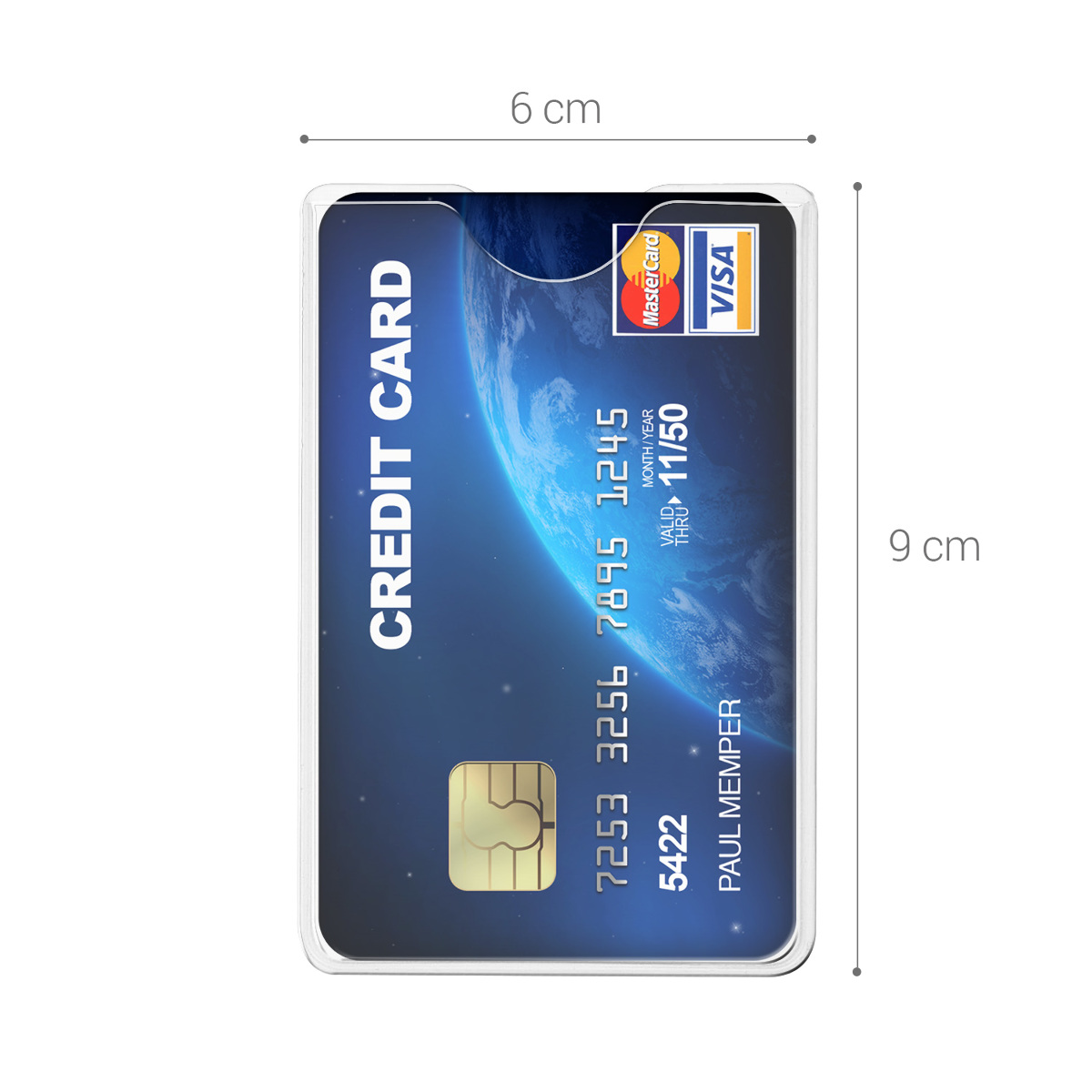 Details about 10x Transparent Credit Card Sleeve - Protector for ID,  Business, SSN Cards