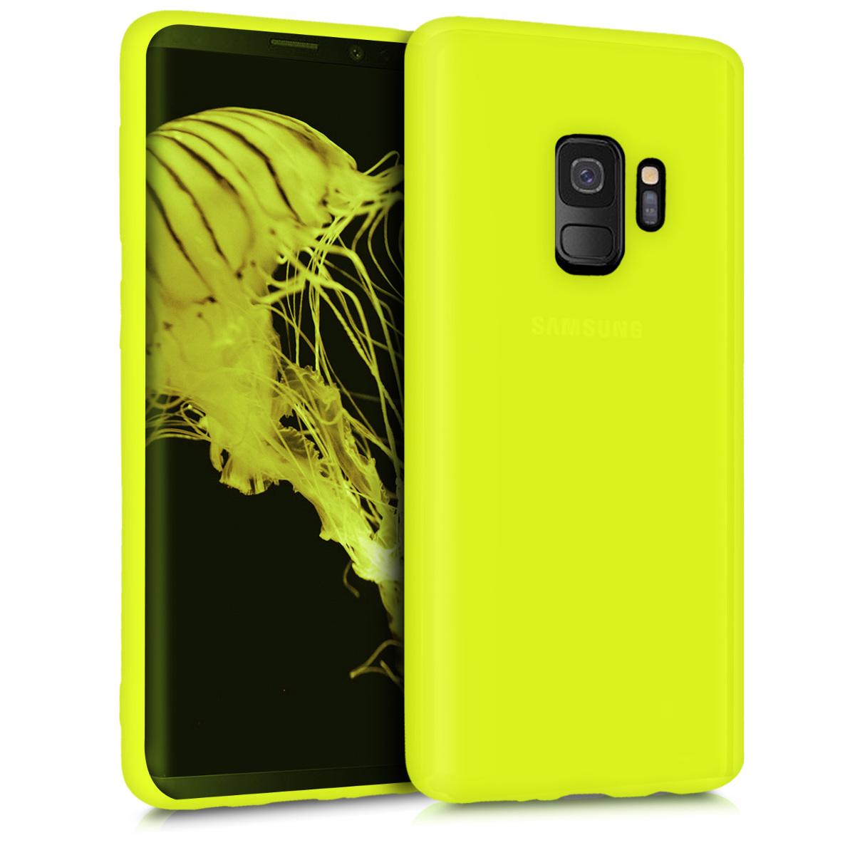 Kvalitní silikonové TPU pouzdro pro Samsung S9 - neonově žluté