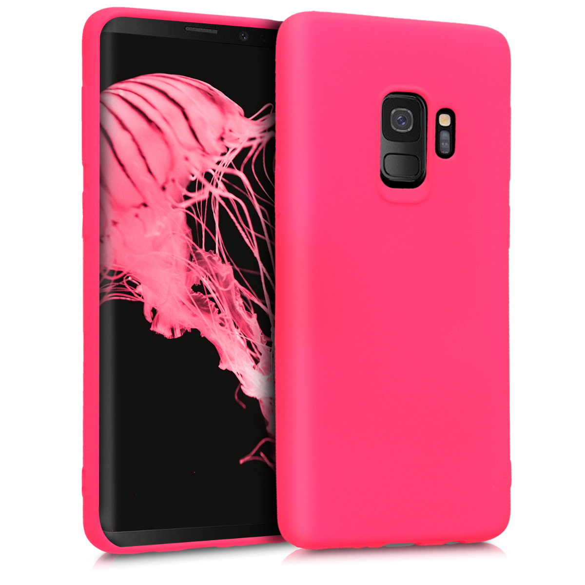 Kvalitní silikonové TPU pouzdro pro Samsung S9 - neonově růžové