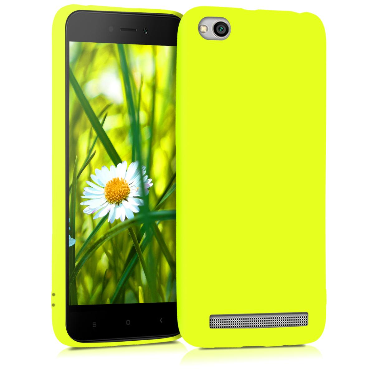 Kvalitní silikonové TPU pouzdro | obal pro Xiaomi Redmi 5A - Neon žluté
