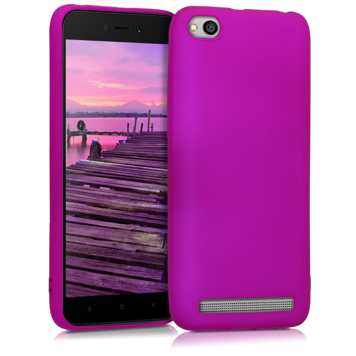 Kvalitní silikonové TPU pouzdro | obal pro Xiaomi Redmi 5A - Neon fialový