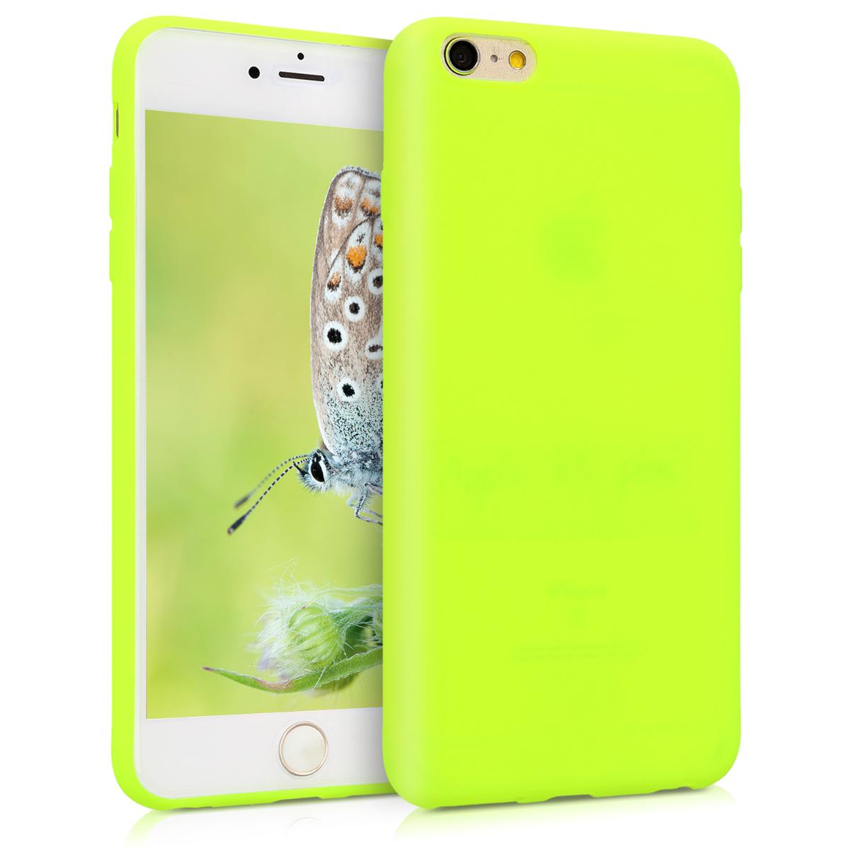 Kvalitní silikonové TPU pouzdro pro Apple iPhone 6 Plus / 6S - Neon Yellow