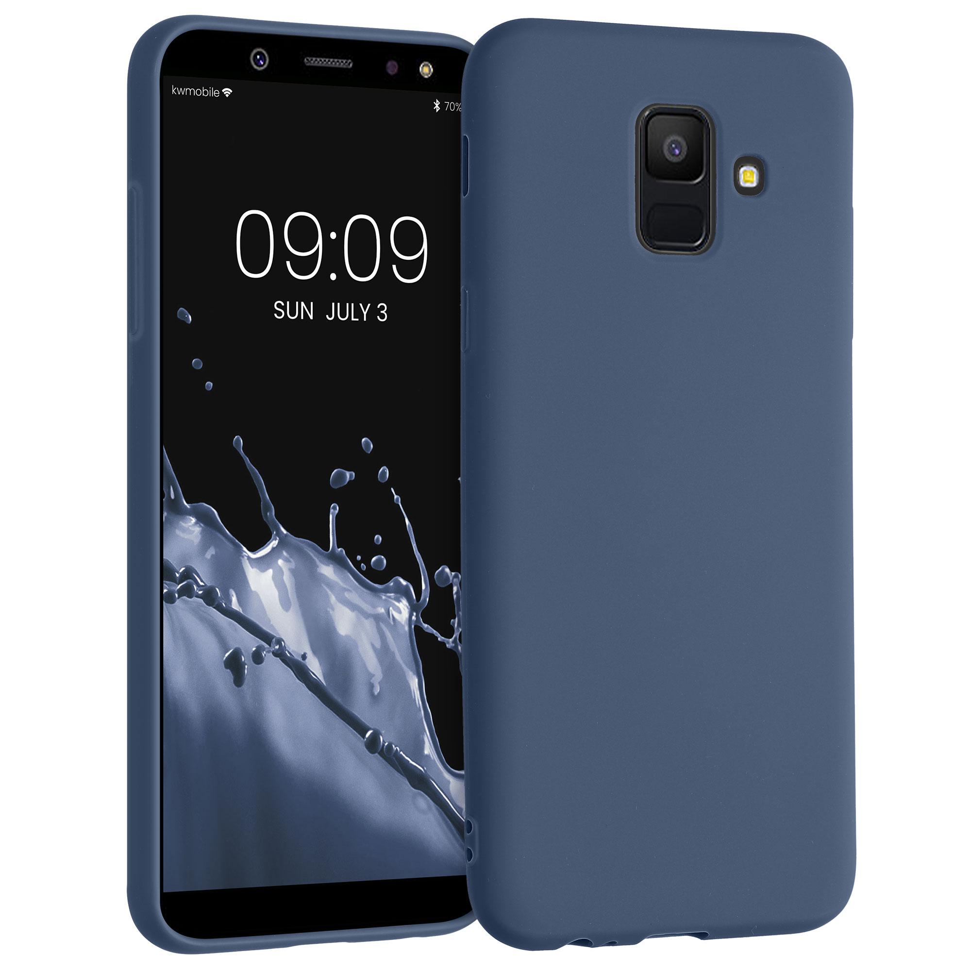 Kvalitní silikonové TPU pouzdro pro Samsung A6 (2018) - Námořnická modré