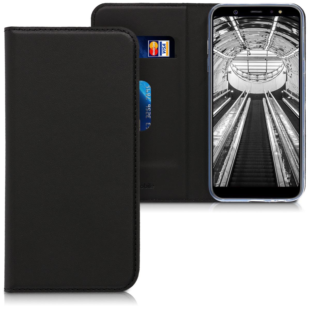 Kožené pouzdro pro Samsung A6 (2018) - černé