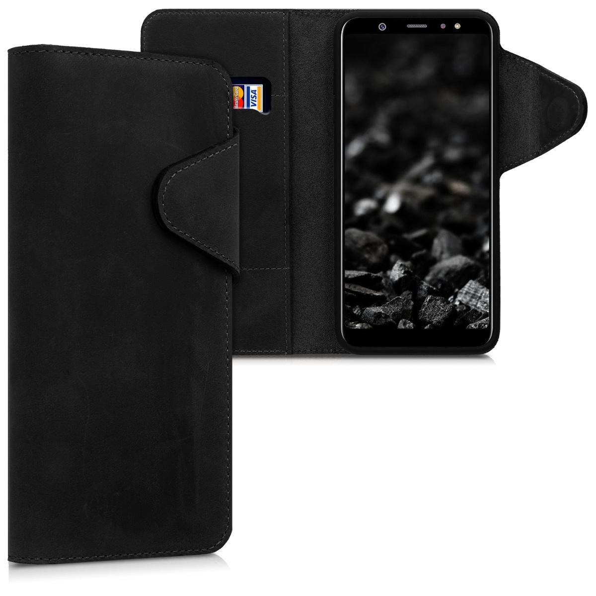 Kožené pouzdro pro Samsung A6+|A6 Plus (2018) - černé
