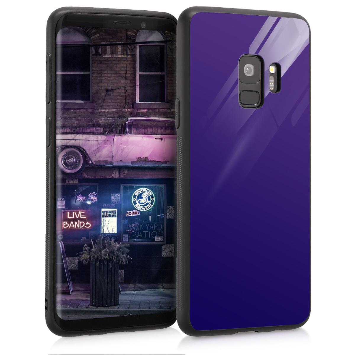 Skleněné pouzdro pro Samsung S9 - Blue High Gloss