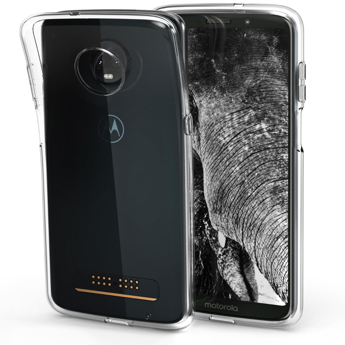 Kvalitní silikonové TPU pouzdro | obal pro Motorola Moto Z3 Play - Transparentní