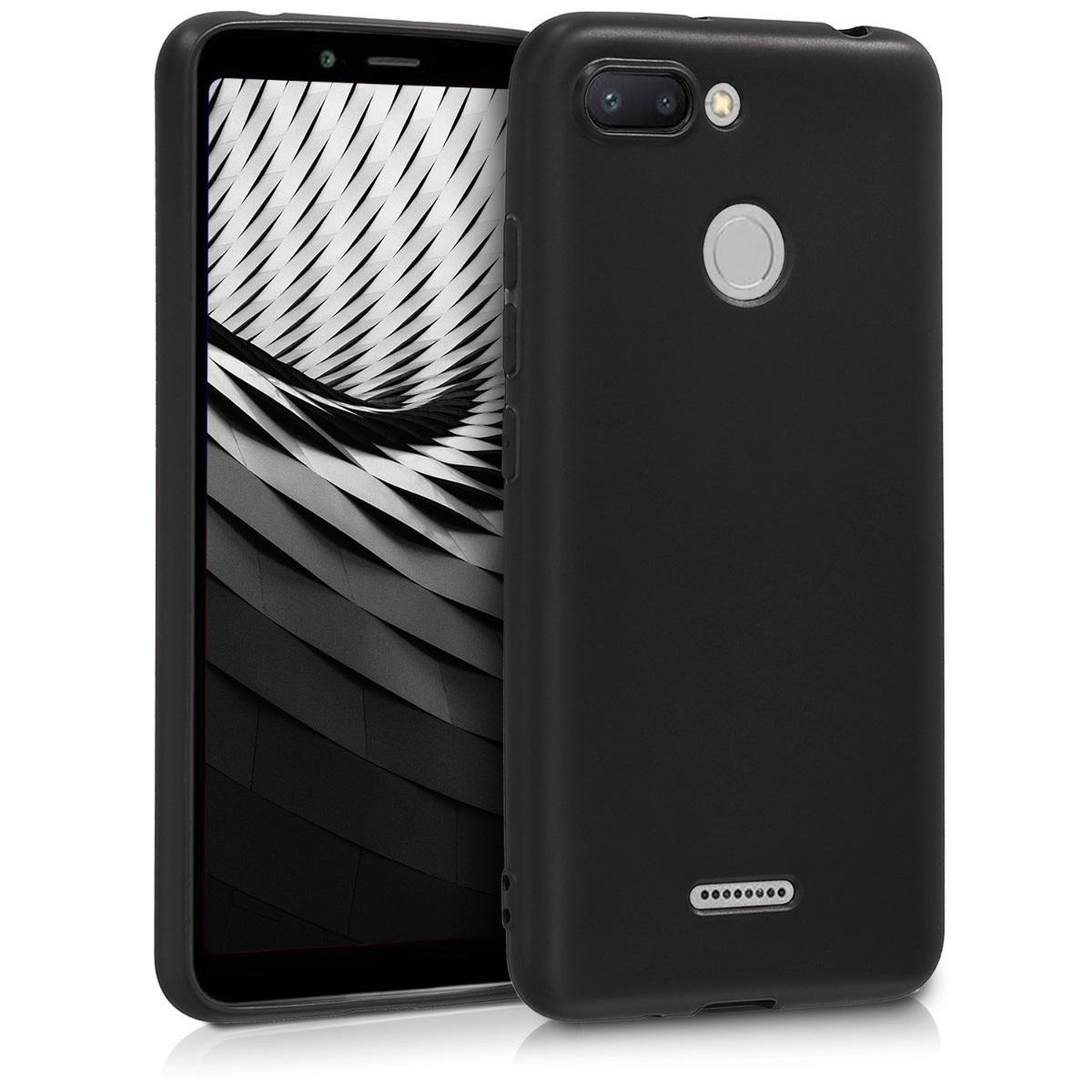 Kvalitní silikonové TPU pouzdro | obal pro Xiaomi Redmi 6 - černý matný
