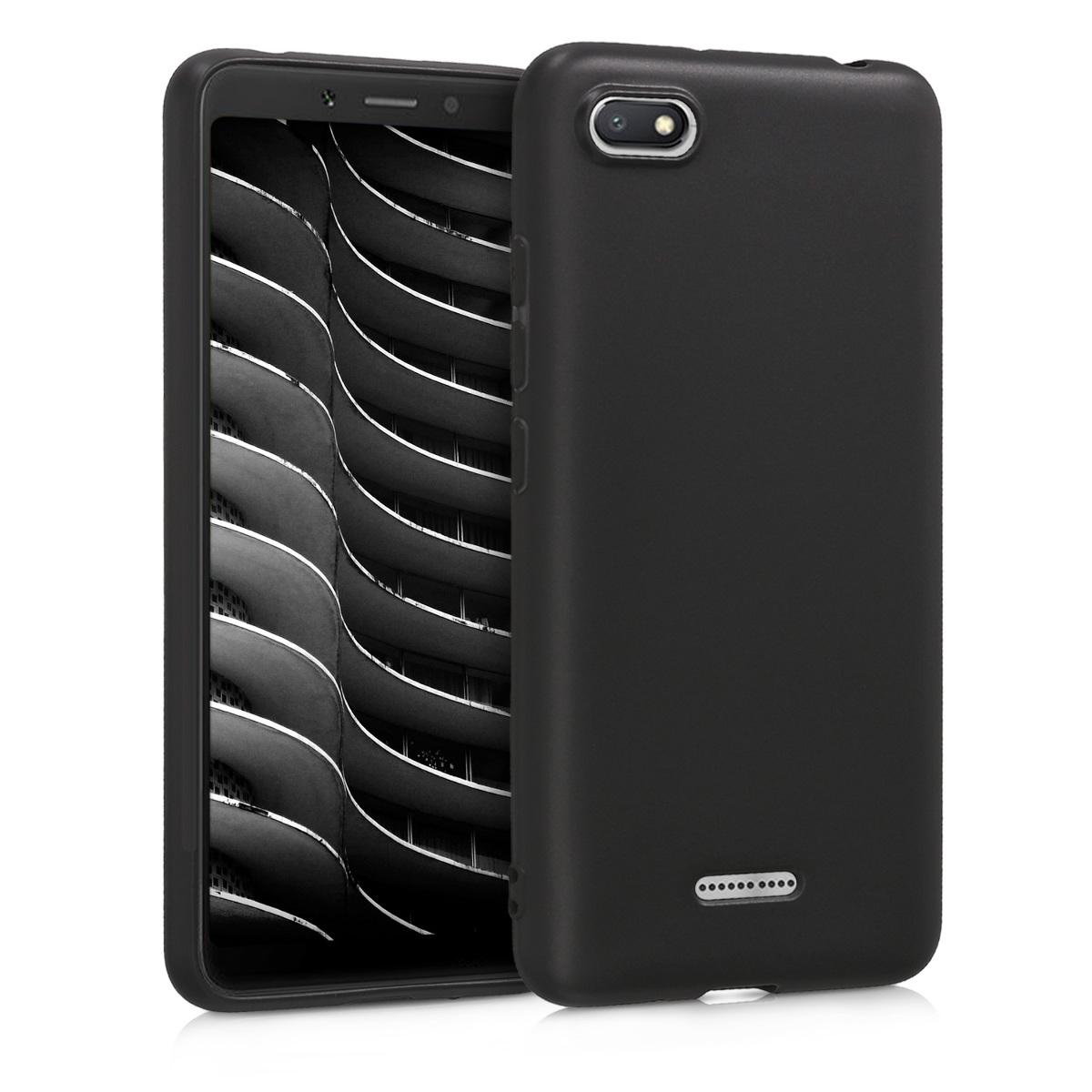 Kvalitní silikonové TPU pouzdro | obal pro Xiaomi Redmi 6A - černý matný