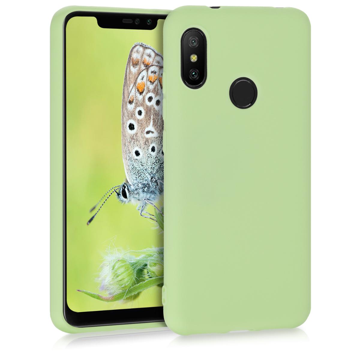 Kvalitní silikonové TPU pouzdro | obal pro Xiaomi Redmi 6 Pro | Mi A2 Lite - pistácie zelený