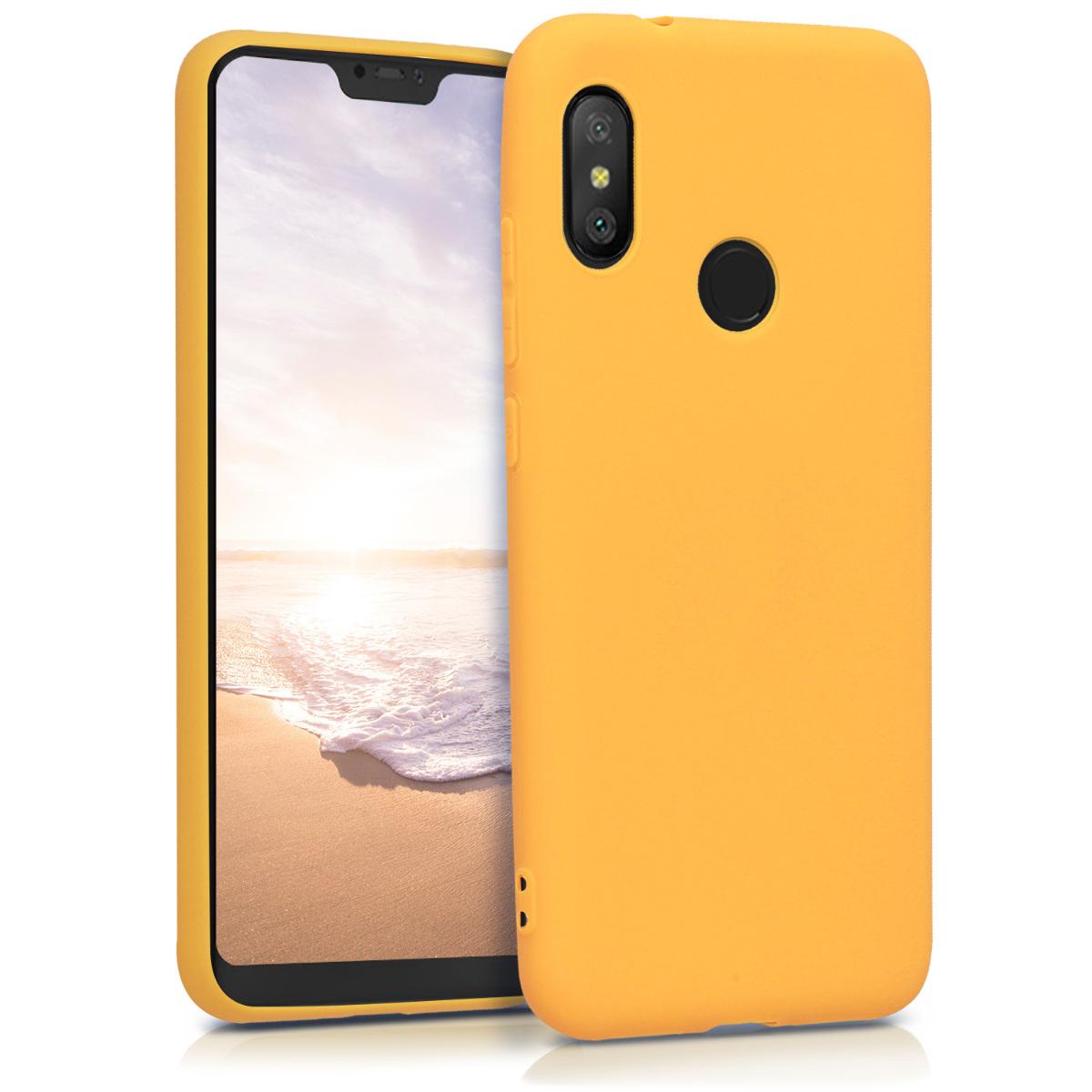 Kvalitní silikonové TPU pouzdro | obal pro Xiaomi Redmi 6 Pro | Mi A2 Lite - Honey žluté