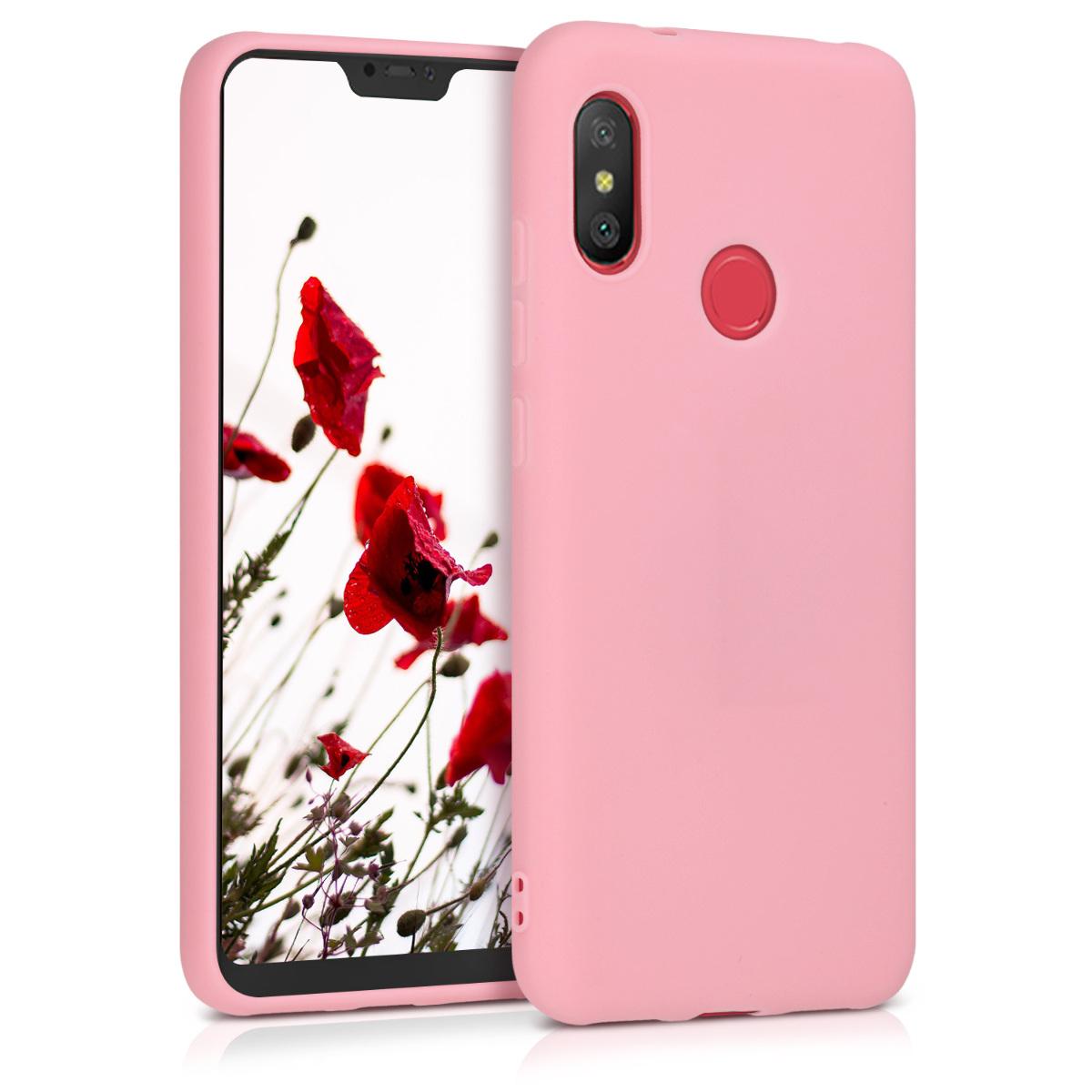 Kvalitní silikonové TPU pouzdro | obal pro Xiaomi Redmi 6 Pro | Mi A2 Lite - Light růžový matný