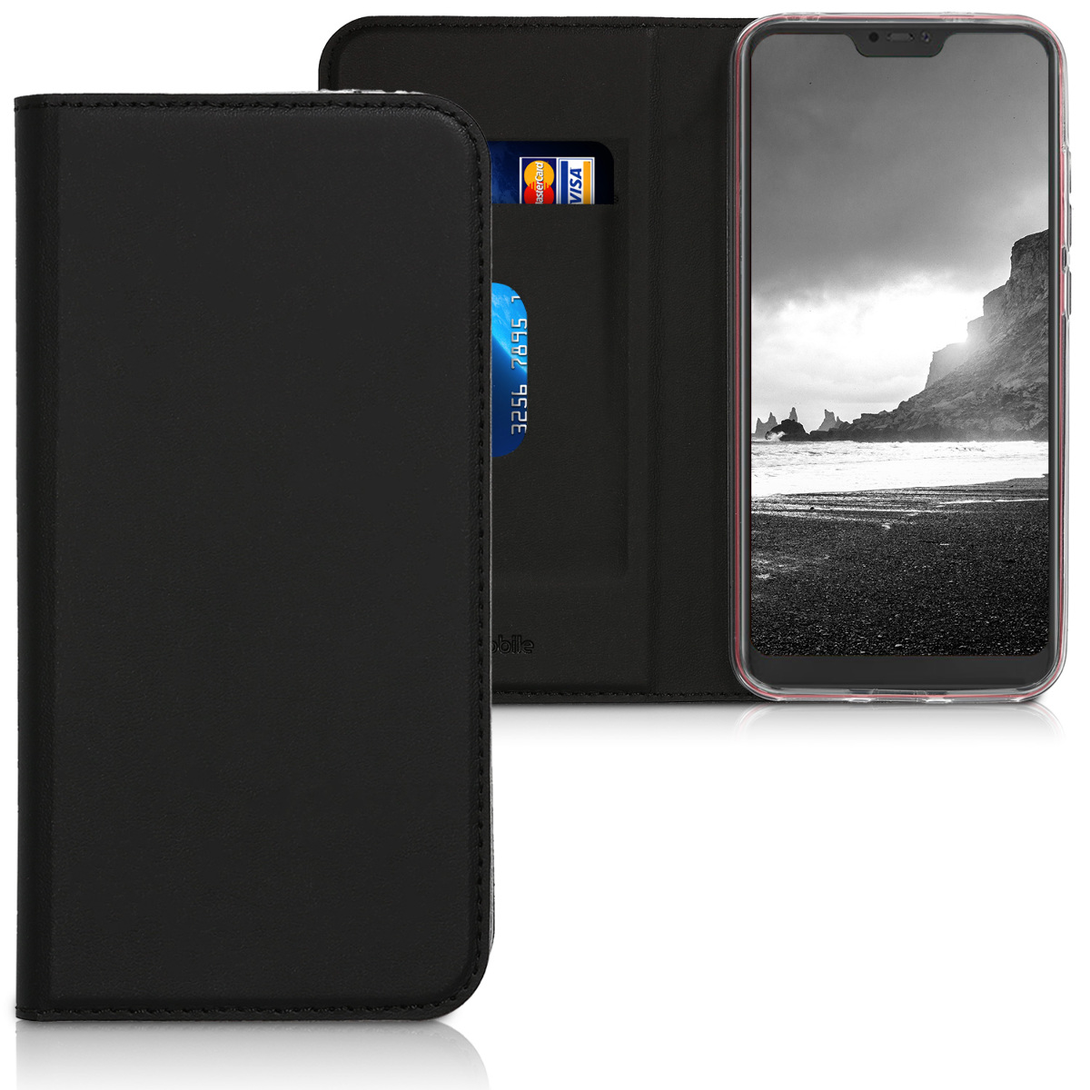 Kožené pouzdro | obal pro Xiaomi Redmi 6 Pro | Mi A2 Lite - černý