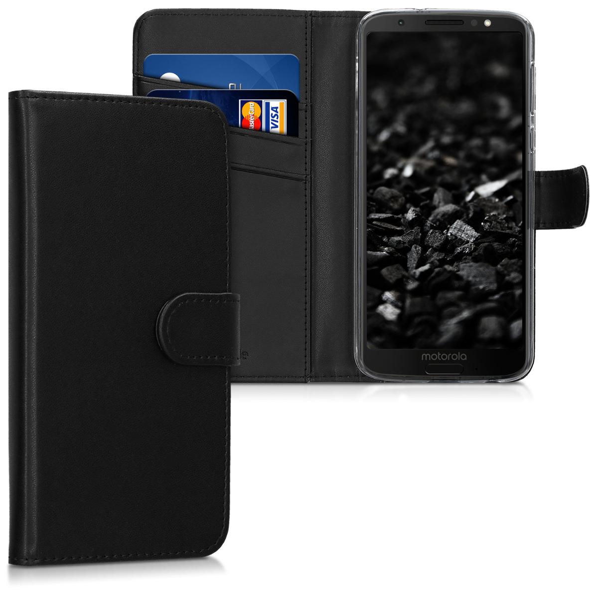 Kožené pouzdro | obal pro Motorola Moto G6 - Černá