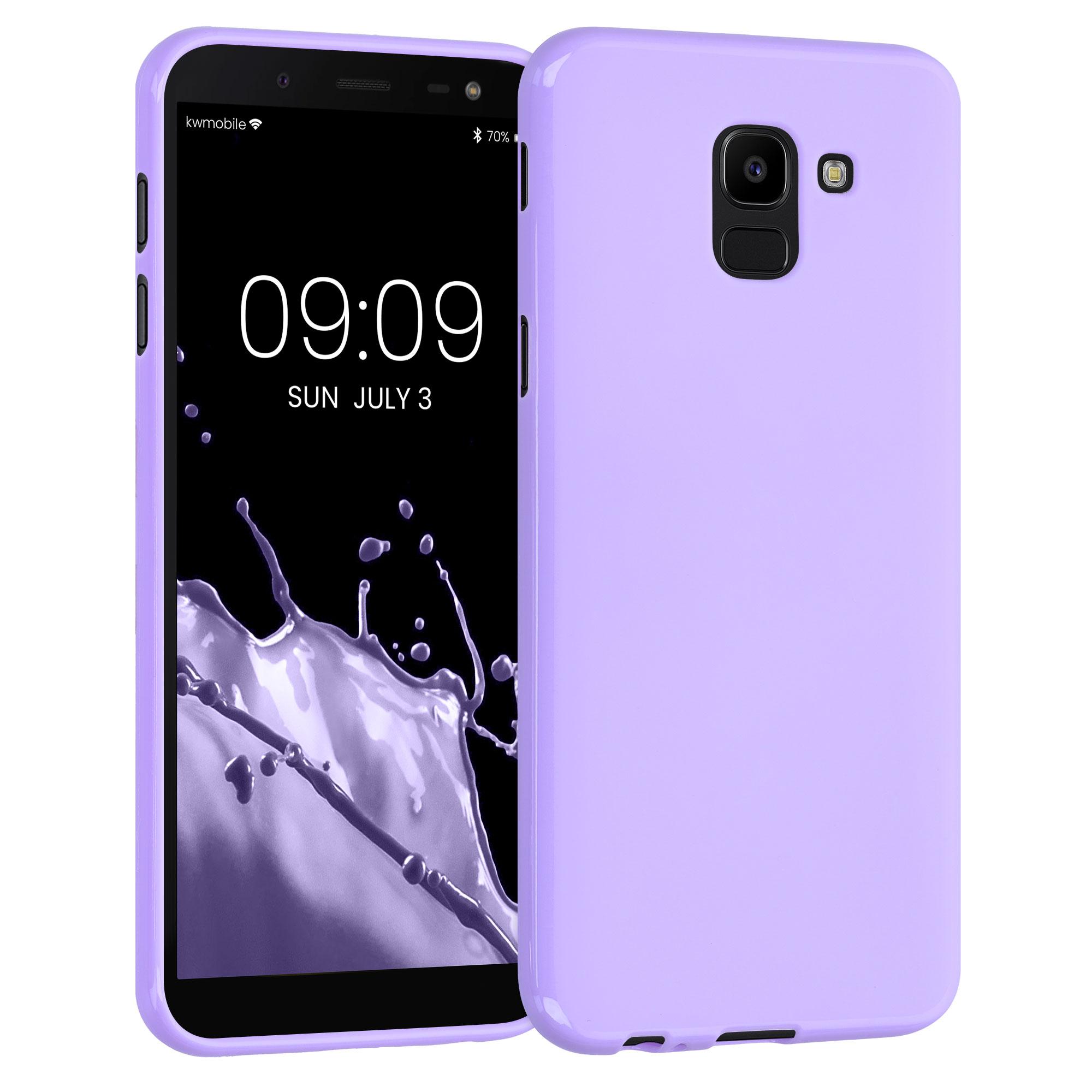 Kvalitní silikonové TPU pouzdro pro Samsung J6 - levandulové fialové