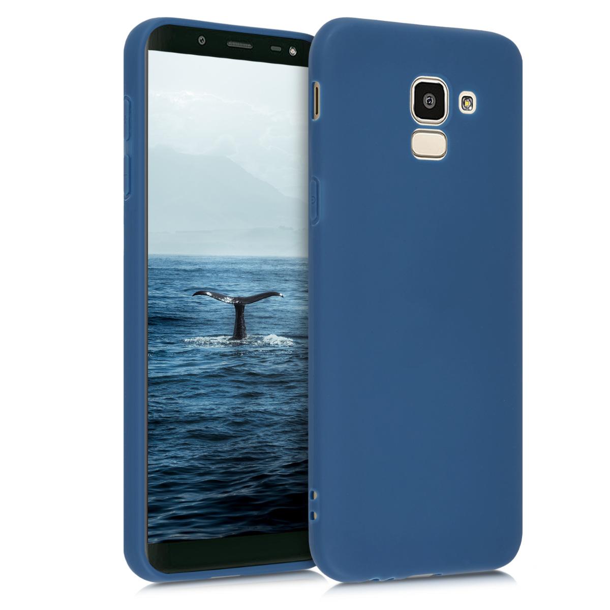 Kvalitní silikonové TPU pouzdro pro Samsung J6 - Námořnická modré