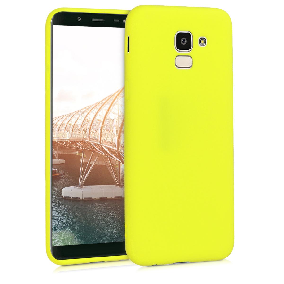 Kvalitní silikonové TPU pouzdro pro Samsung J6 - Lemon žluté