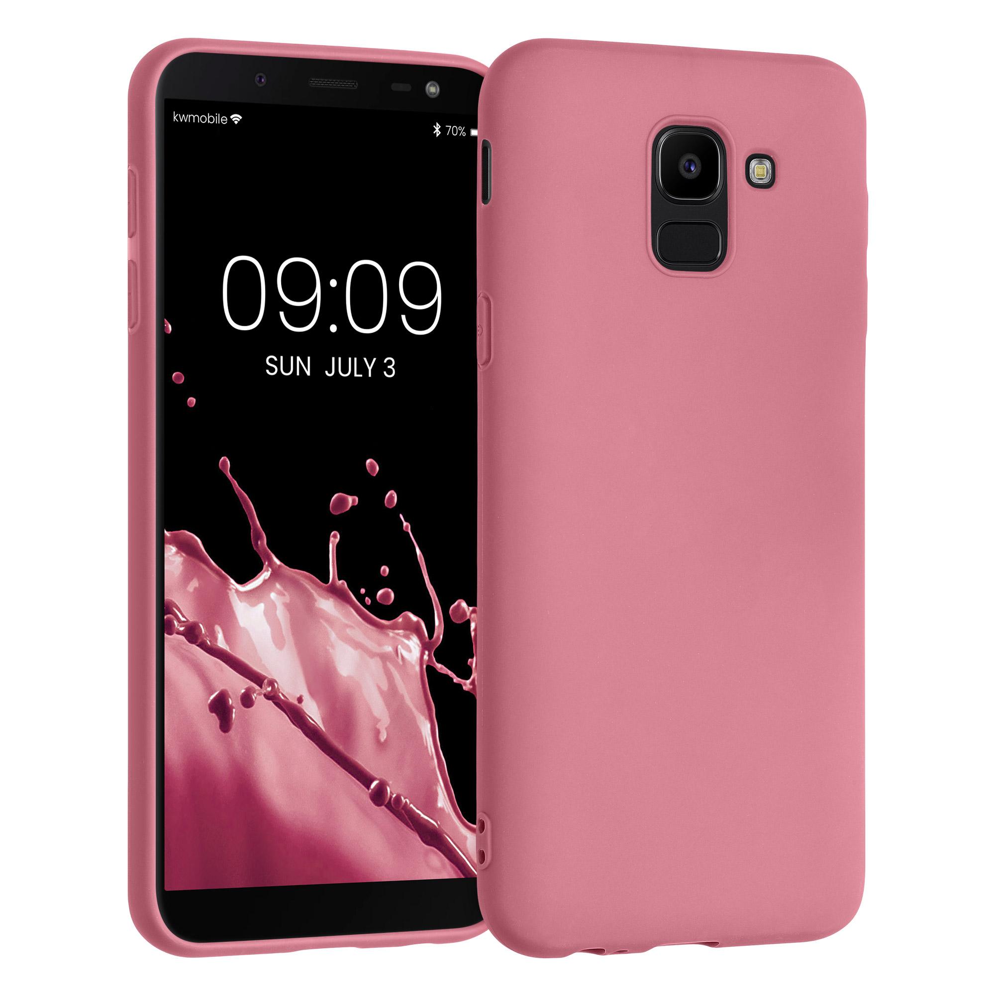 Kvalitní silikonové TPU pouzdro pro Samsung J6 - Hluboké Rusty Rose
