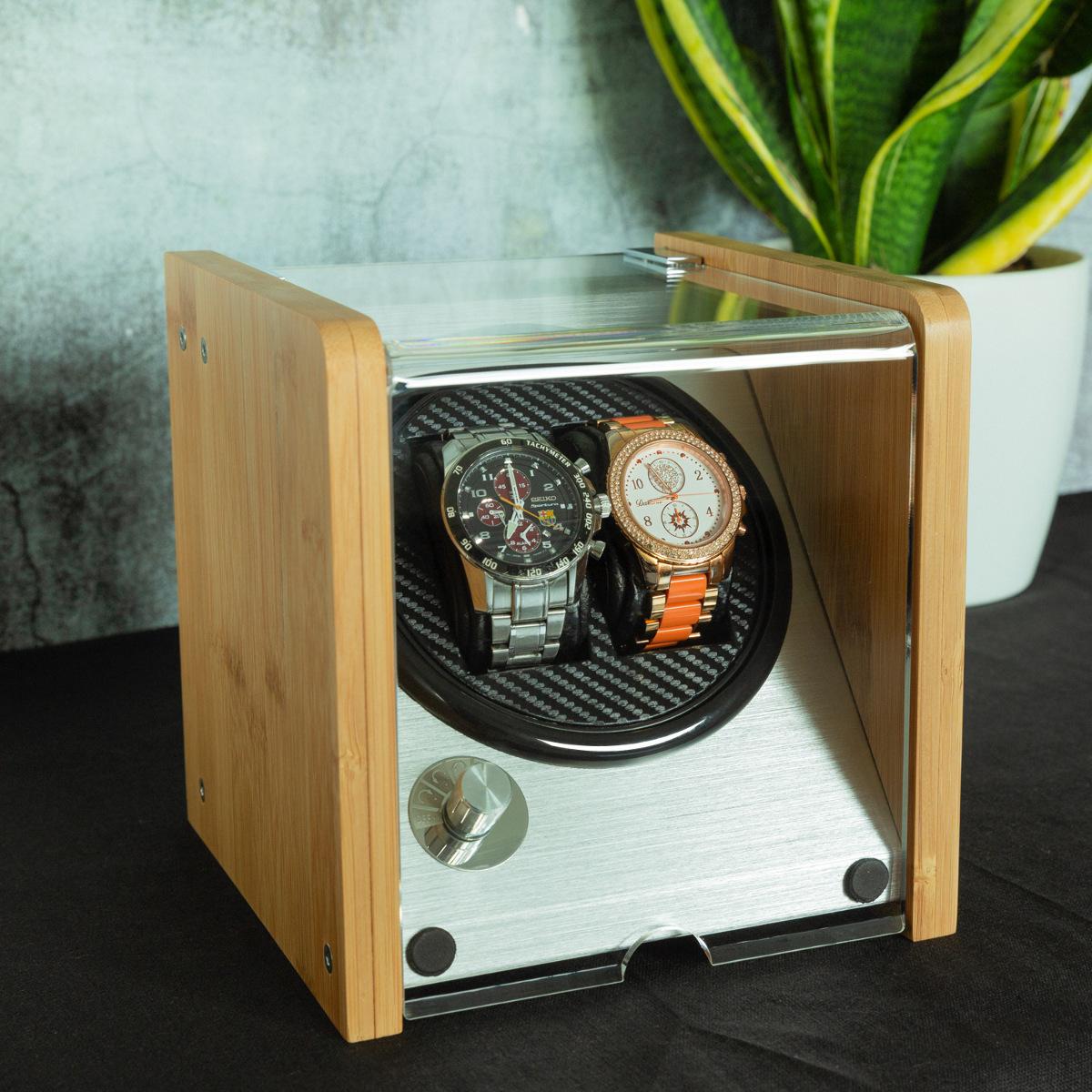 Uhrenbeweger Uhrendreher für 2 Automatikuhren 5 Modi 17,5x18x18cm Uhrenbox