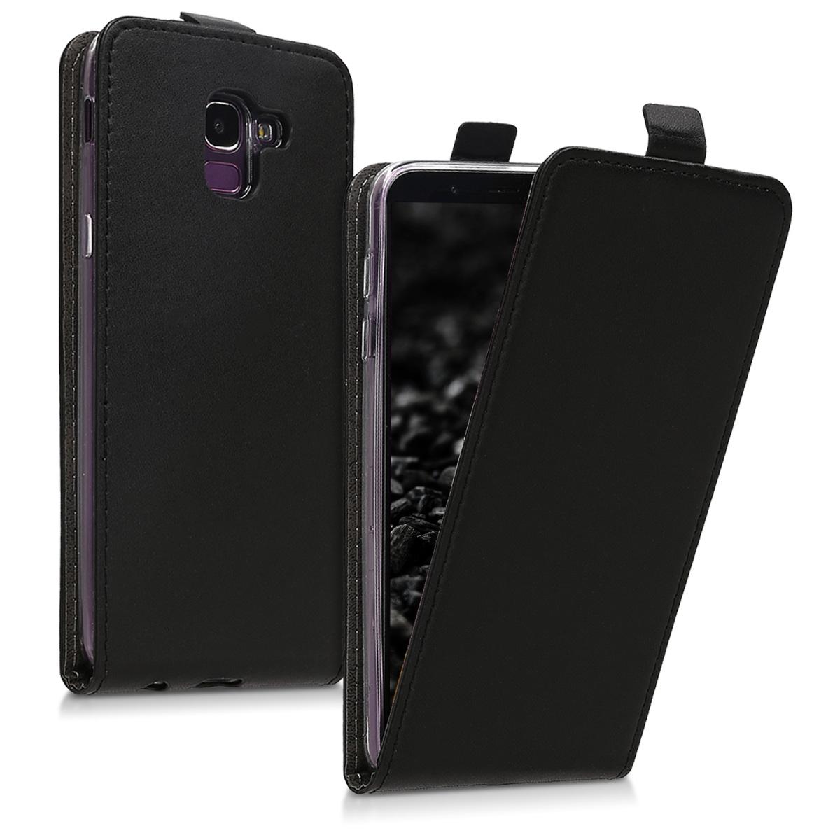 Kožené pouzdro pro Samsung J6 - černé