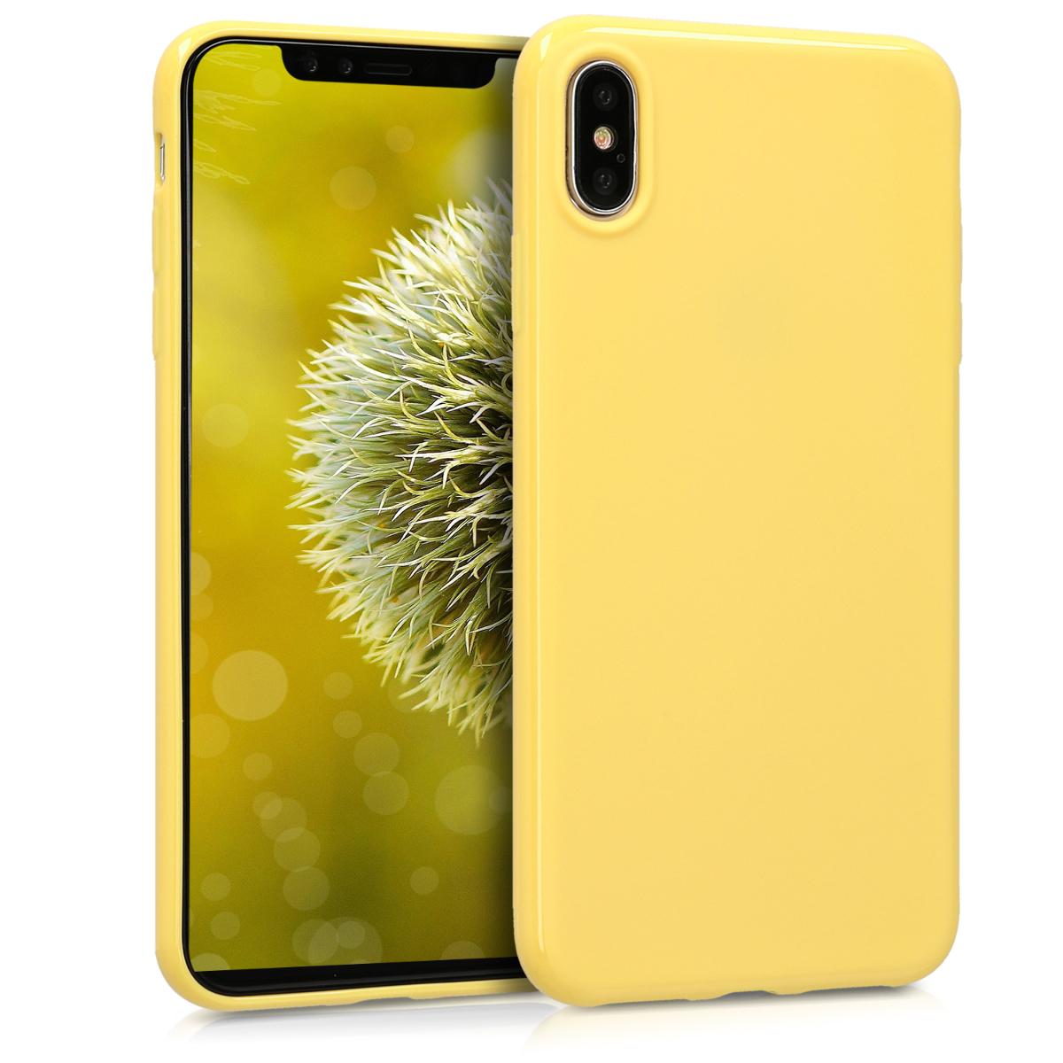 Kvalitní silikonové TPU pouzdro pro Apple iPhone XS Max - Žlutá