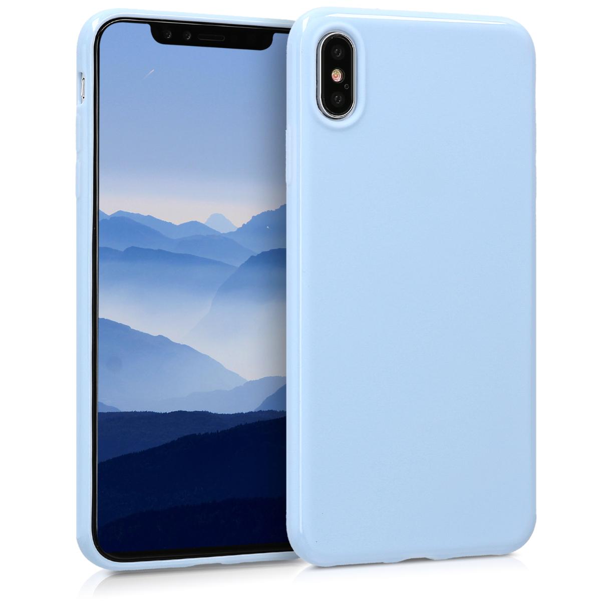 Kvalitní silikonové TPU pouzdro pro Apple iPhone XS Max - Light Blue Matte