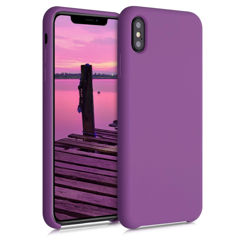 Kvalitní silikonové TPU pouzdro pro Apple iPhone XS Max - pastel Purple