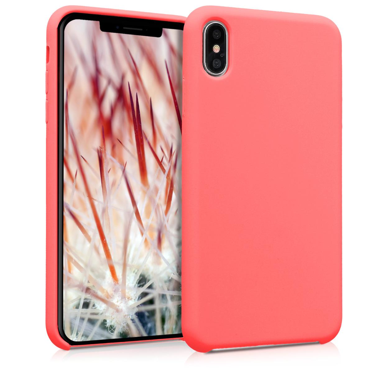 Kvalitní silikonové TPU pouzdro pro Apple iPhone XS Max - Neon Coral