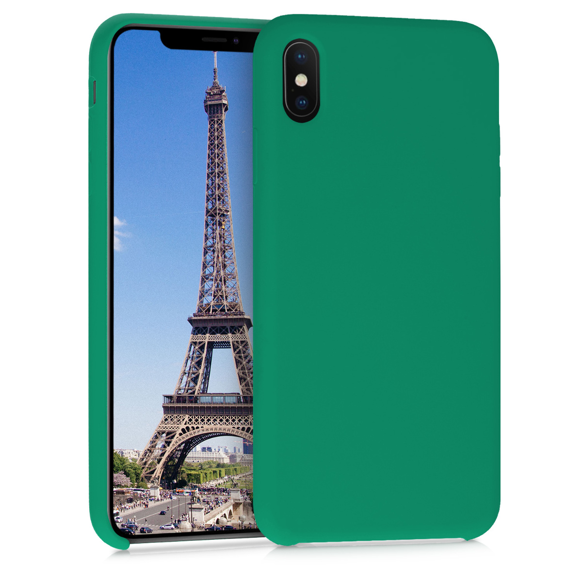 Kvalitní silikonové TPU pouzdro pro Apple iPhone XS Max - Smaragdová zeleň