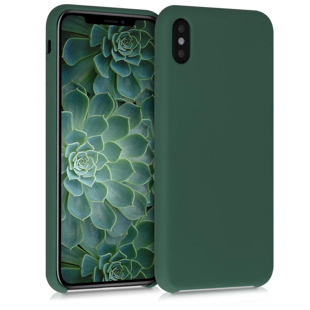 Kvalitní silikonové TPU pouzdro pro Apple iPhone XS Max - Moss Green